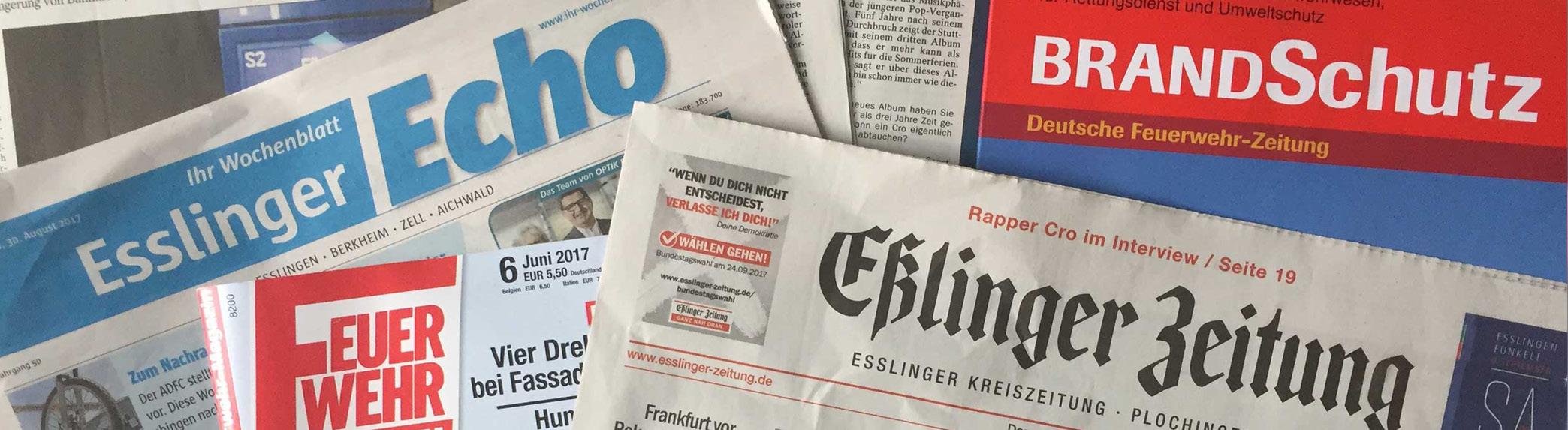 Headline Grafik: BerichtePresse